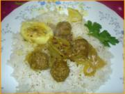 Beaf-Curry mit Reis nach Sidek - Rezept