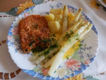 Spargel mit Orangen-Hollandaise und Kotelett - Rezept