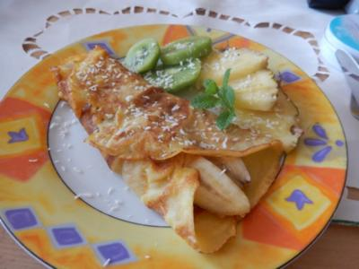 Crepes mit Bananenfüllung - Rezept