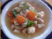 Hähnchenbrustfileteintopf mit Schwemmklößchen - Rezept