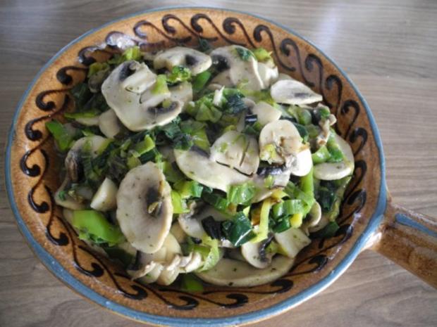 Vegan : Porree - Champignon - Pfanne mit Spargel und Kartoffeln - Rezept - Bild Nr. 13