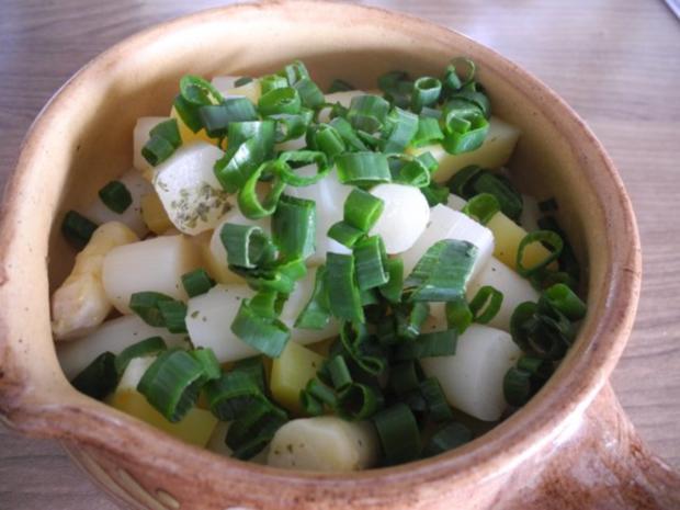 Vegan : Porree - Champignon - Pfanne mit Spargel und Kartoffeln - Rezept - Bild Nr. 14