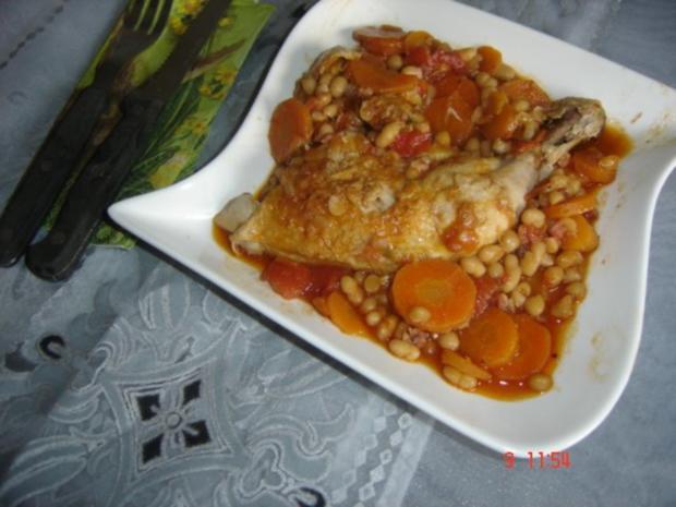 Hähnchen-Bohnen-Eintopf - Rezept