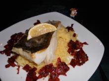 Skrei mit Chorizo und Granatapfel>> - Rezept