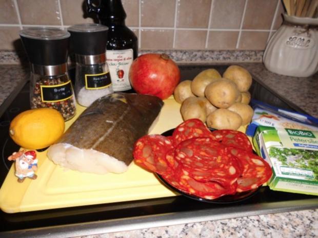 Skrei mit Chorizo und Granatapfel>> - Rezept - Bild Nr. 2
