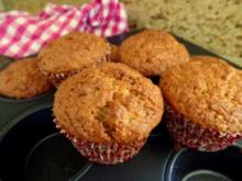 Rübli-Apfel-Amarettini-Muffins - Rezept