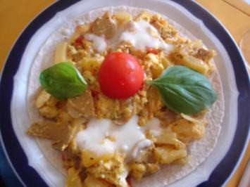 Wrap-Pizza - Rezept
