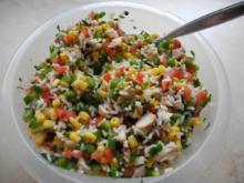 Saftiger Reissalat mit gegrilltem Hähnchenbrustfilet - Rezept