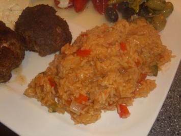 Scharfer Reis mit Paprika - Rezept