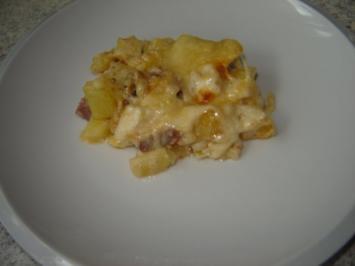 Kartoffeln mit Sucuk aus dem Backofen - Rezept