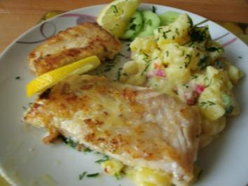 Kabeljaufilet mit Bärlauch-Radieschen Kartoffelsalat - Rezept