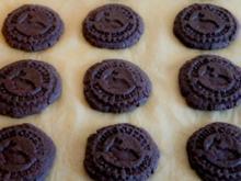 Schokoladen Kekse , gestempelt - Rezept