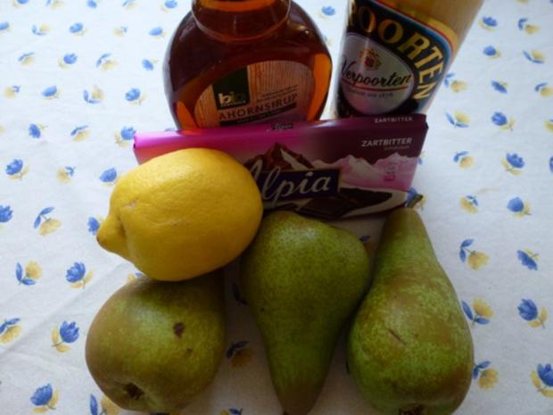 Schoko-Birnenkuchen mit Eierlikör - Rezept - Bild Nr. 2