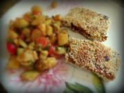 Tofu paniert mit gepufftem Amaranth - Rezept
