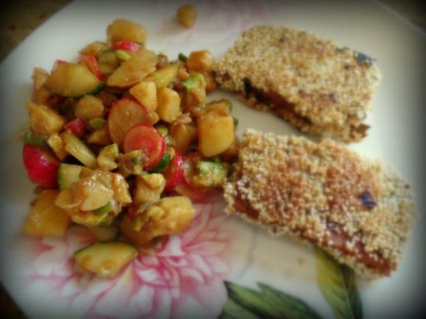 Warmer Kartoffel-Avocado-Salat mit Ahornsirup-Senf-Dressing - Rezept