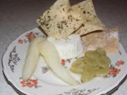 Mascarpone - Estragon - Mousse mit Früchten und Filoteigblättern - Rezept