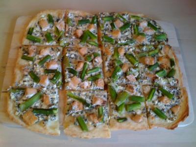 Leo´s  Spargel - Flammkuchen - Rezept