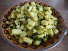 Beilage : Gedämpfte Porree - Kartoffel - Würfel - Rezept