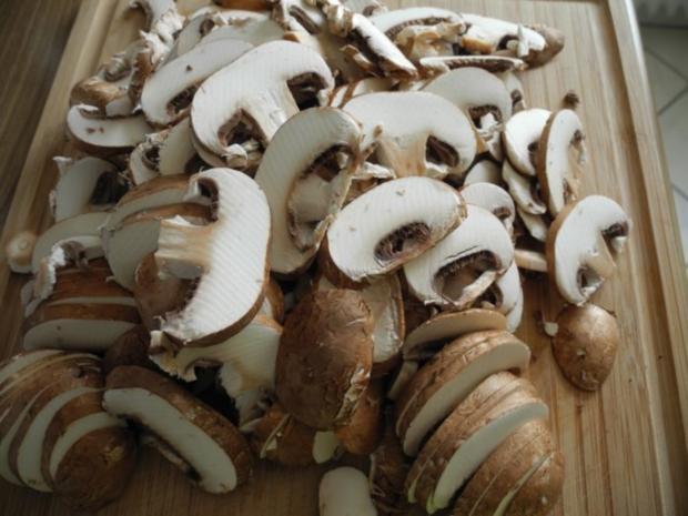 Beilage : Porree - Spinat - Champignons - Rezept - Bild Nr. 3