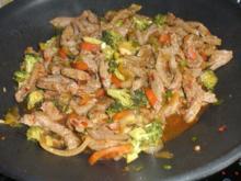 Scharfes Rind aus dem Wok - Rezept