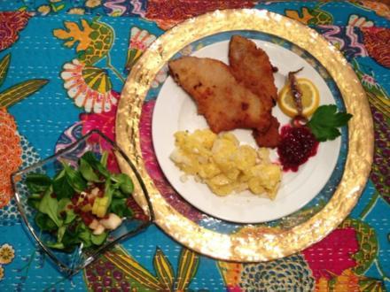 Das Original Wiener Schnitzel mit Kartoffel- und Feldsalat - Rezept