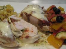 überbackenes Pesto-Tomaten-Hühnchen auf Estragon-Sauce - Rezept