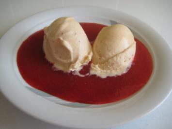 Spargel Eis mit Erdbeere - Rezept