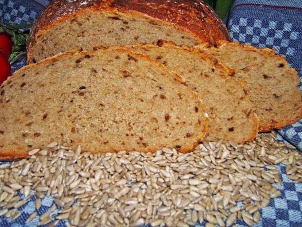 Buttermilchbrot mit Weizenvollkornmehl und Sonnenblumenkernen - Rezept - Bild Nr. 2