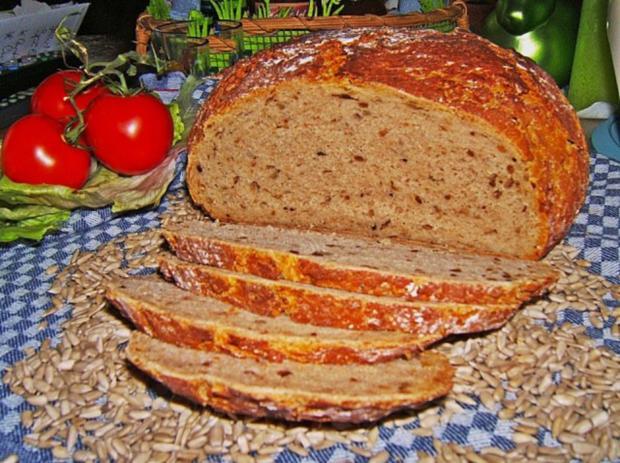 Buttermilchbrot mit Weizenvollkornmehl und Sonnenblumenkernen - Rezept - Bild Nr. 3