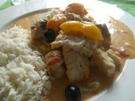 Brasilianische Fischpfanne mit Reis - Rezept