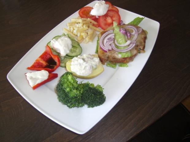 Kalbrückensteak NT mit Gemüseimpressionen - Rezept