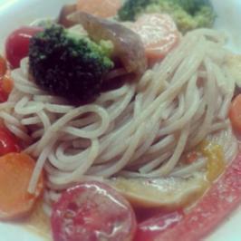 Curry mit Dinkel-Spaghetti - Rezept
