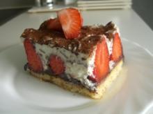 Erdbeer-Stracciatella-Schnitten - Rezept