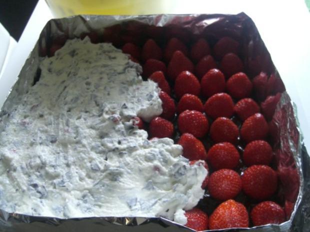 Erdbeer-Stracciatella-Schnitten - Rezept - Bild Nr. 3