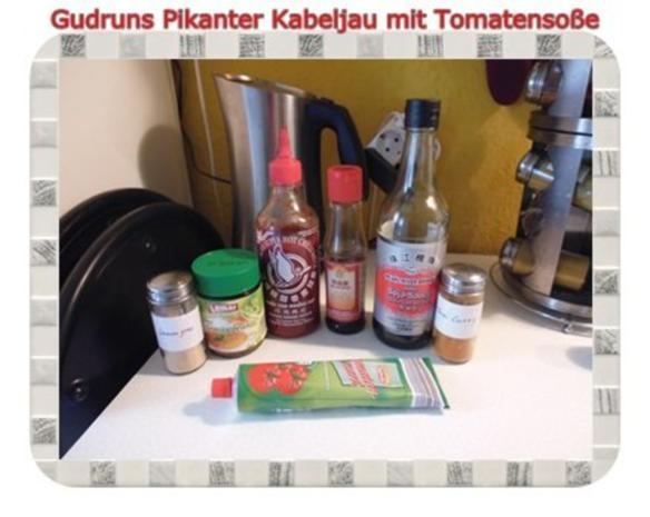 Fisch: Pikanter Kabeljau mit Tomatensoße im Asiastil und Wildreismischung - Rezept - Bild Nr. 4