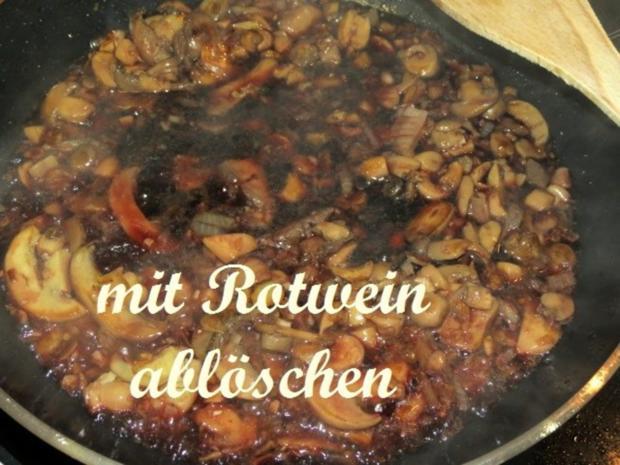 Putenbrustfilet in Rotweinpilzsoße - Rezept - Bild Nr. 8