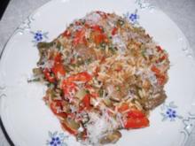 Reisfleisch pikant mit Paprika - Rezept