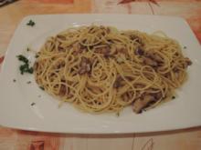 Vegan : Reisspaghetti mit Champignongs - Rezept