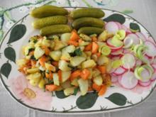 Vegan : veganer bunter Teller - fix gemacht aus Resten - Rezept