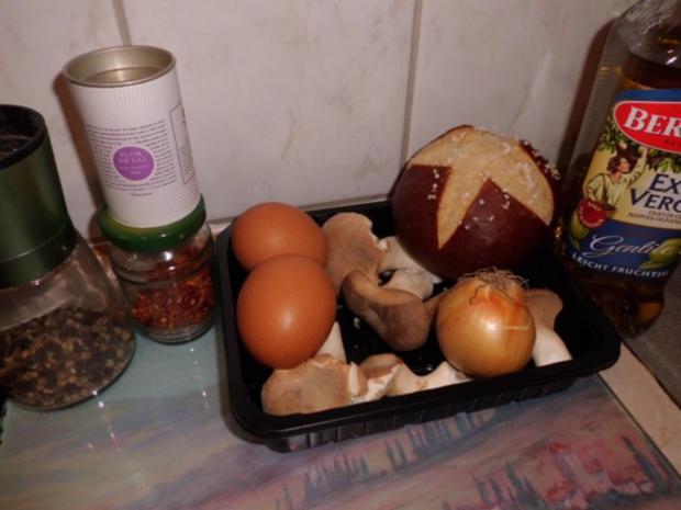 Pfannengericht: Omelett mit Pilzen und Brötchen - Rezept - Bild Nr. 2