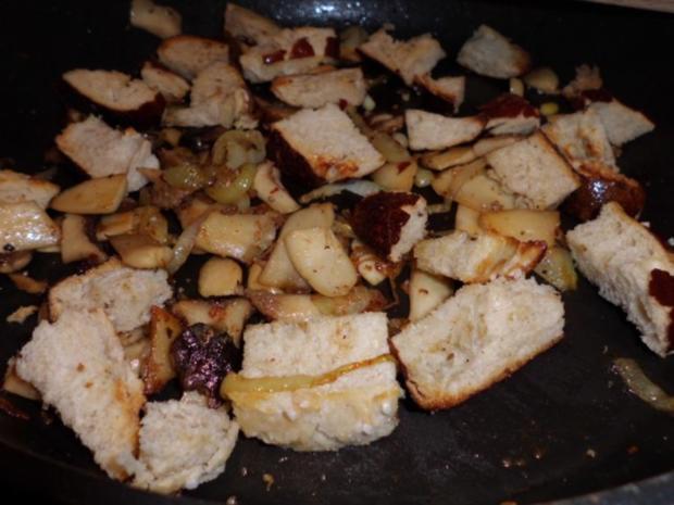 Pfannengericht: Omelett mit Pilzen und Brötchen - Rezept - Bild Nr. 5