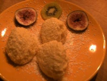 Weiße Mousse mit Kiwi und Feigen - Rezept