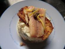 Apfel- Kresse- Salat mit Brotchip und Forelle - Rezept