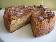 Brotkuchen oder Auflauf mit Äpfel - Rezept