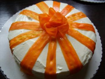 Möhren-Frischkäse-Torte - Rezept
