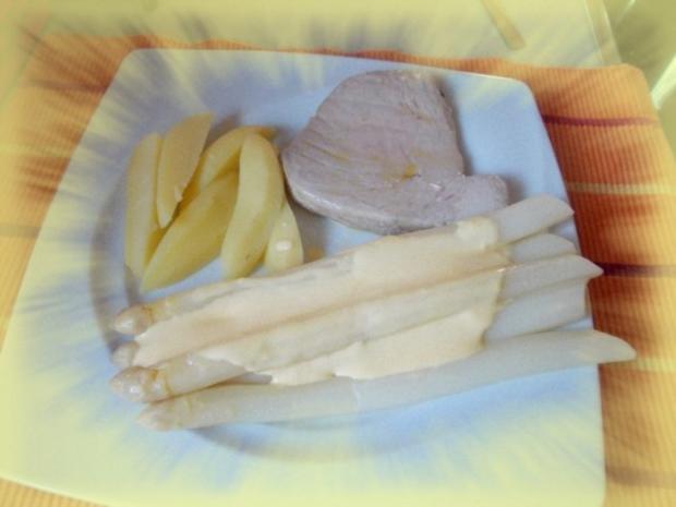 Thunfischsteak mit Spargel - Rezept