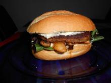 Burger mit Feldsalat und Champignons - Rezept