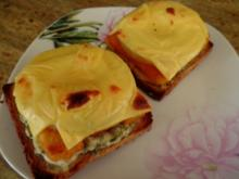 Fischstäbchen-Toast-Hawaii - Rezept