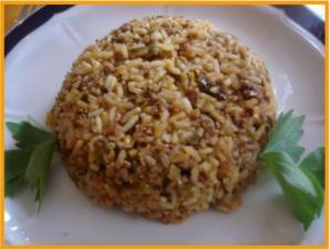 Curry-Hackfleisch-Porree-Reis-Pfanne - Rezept