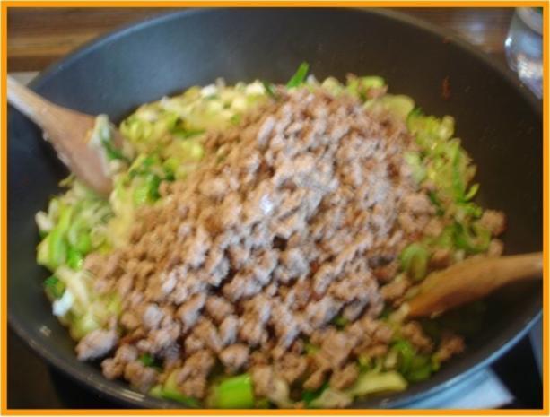 Curry-Hackfleisch-Porree-Reis-Pfanne - Rezept - Bild Nr. 10